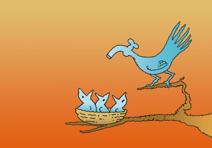47 - Pássaro torneira